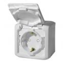 Розетка 2К+З с защитными шторками - Forix - белый