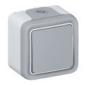 Кнопочный выключатель 10A - Plexo - серый