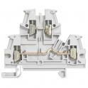 Винтовая клемма 5 мм двухполюсная - двухъярусная - Viking 3 - серый