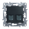 Double socket RJ45 - 5 UTP Niloe/Etika - anthracite