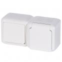 Выключатель и розетка с защитными шторками и крышкой - Forix - белый