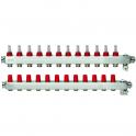 Коллектор из нержавеющей SSM-F стали с расходомерами - Manifold 12+12
