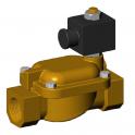 Соленоидный клапан из латуни с внутренней резьбой - NO 1'' - Tecofi
