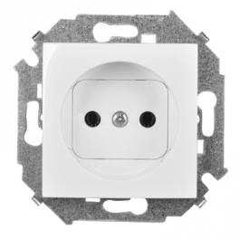 Розетка 2К - Simon 15 - белый