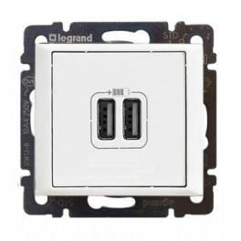 Двойная розетка USB 1500мА - Valena - белый