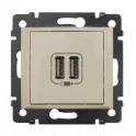 Двойная розетка USB 1500мА - Valena - слоновая кость