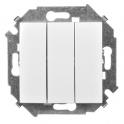Выключатель трехклавишный - Simon 15 - белый