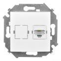 Телефонная розетка RJ11 - Simon 15 - белый