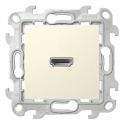 Коннектор HDMI v 1.4 - Simon 24 - слоновая кость