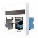 Двойная розетка RJ45 6 UTP - JSL Electro - белый