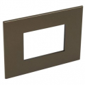 Рамка 3 модуля - Arteor - Dark Bronze