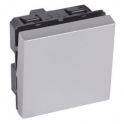 Выключатель одноклавишный - 2 модуля - Arteor - Soft Aluminum