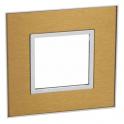 Рамка 2 модуля - Arteor - Gold Brass