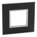 Рамка 2 модуля - Arteor - Mirror Black