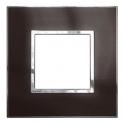Рамка 2 модуля - Arteor - Reflective Metal Black
