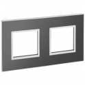 Рамка 2x2 модуля - Arteor - Brushed Metal Black