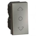 Выключатель для управления жалюзи - 1 модуль - Arteor - Magnesium