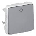 Выключатель двухполюсный - Plexo IP55 - серый
