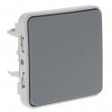Выключатель кнопочный Н.О. + Н.З. контакты - Plexo IP55 - серый
