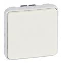 Выключатель кнопочный Н.О. + Н.З. контакты - Plexo IP55 - белый