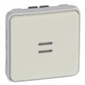Выключатель кнопочный Н.О. контакт с подсветкой - Plexo IP55 - белый