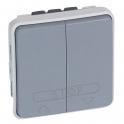 Выключатель кнопочный для систем с электронным блоком управления - Plexo IP55 - серый