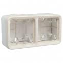 Коробка 2 поста, горизонтальная - Plexo IP55 - белый