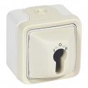 Выключатель с ключом - Plexo IP55 - белый