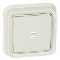Выключатель кнопочный Н.О. + Н.З. контакты с подсветкой - Plexo IP55 - белый
