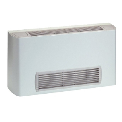 Vertical wall and floor fan coil units with front air supply