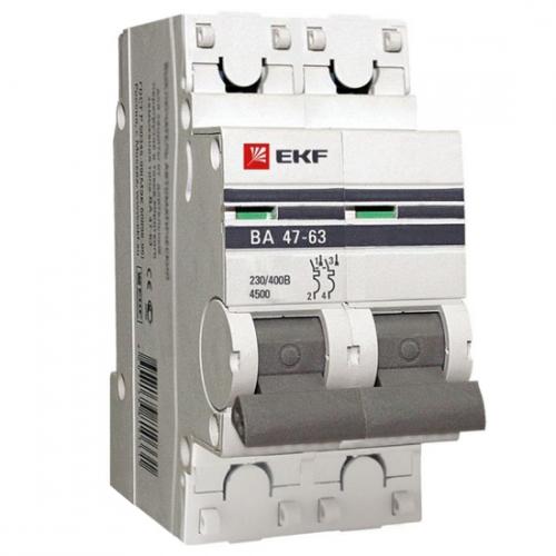 Автоматические выключатели серии ВА 47-63 4.5кА EKF PROxima