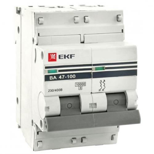 Автоматические выключатели серии ВА 47-100 10кА до 125А EKF PROxima