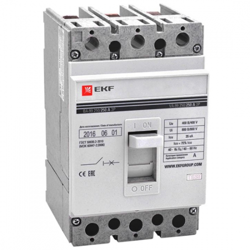 Automatic circuit breakers in molded case EKF